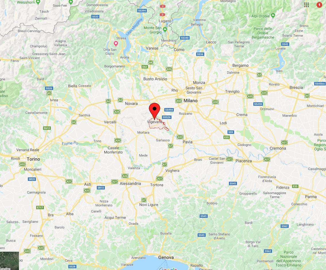 Cartina Lombardia Pavia.Vigevano Studio Architetto Arturo Seren Rosso